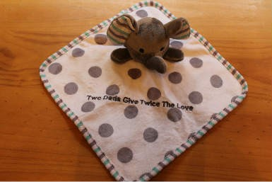 """Mini Baby Blanket """"Two Dads Give Twice The Love"""""""