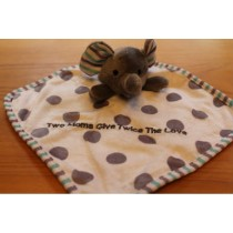 "Mini Baby Blanket ""Two Moms Give Twice The Love"""